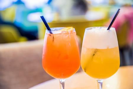 日本酒と果物ジュース