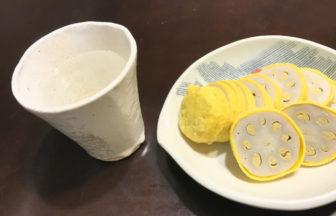熊本名物の辛子レンコンと焼酎