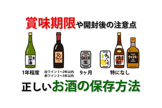 賞味期限や正しいお酒の保存方法