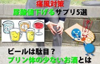 痛風対策尿酸値を下げるサプリ